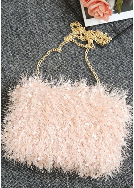 Pelz Mode Quaste Bankett Eine Schulter Handtaschen T901556245722