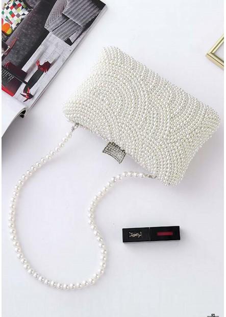 New Pearl Damen Abendkleid Chain Slash Handtaschen T901556077172