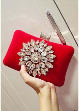 Diamantbesetzte Abend Handtaschen Mit Weicher Gesichtsverriegelung Und Schnalle T901556097764