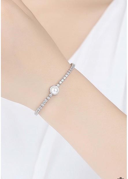Schlanke Minimalistische Muschel Perlen Armbänder T901556332306