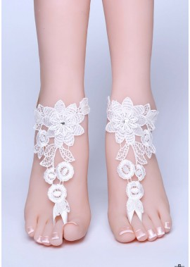 Einfache Fußkettchen Der Braut T901556522829