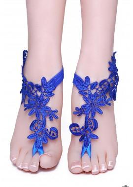 Blaue Spitze Fußkettchen T901556523520