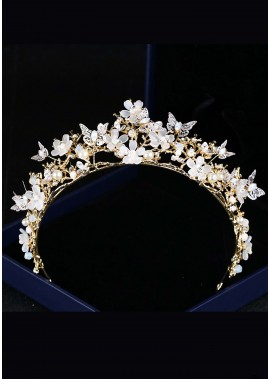 Butterfly Flower Crystal Tiaras T901556611359