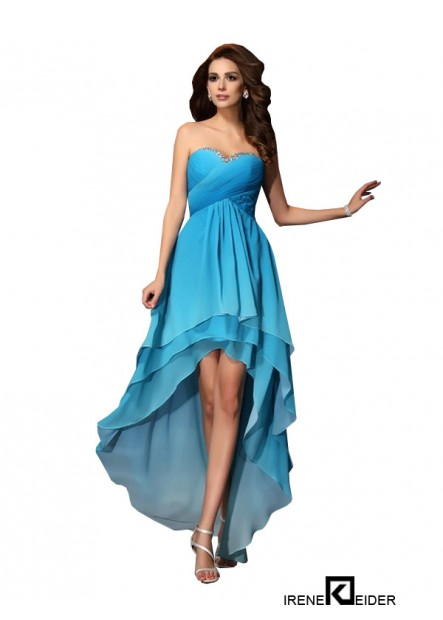 Irenekleider Sexy High Low Prom Evening Dress