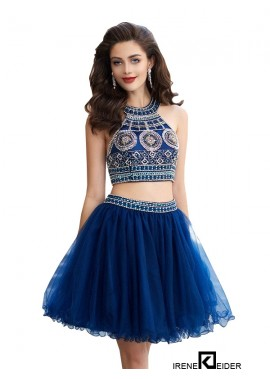 Irenekleider Sparkly Short 2 Piece Prom Evening Dress