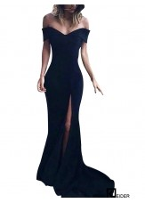 Black Long Prom Evening Dress
