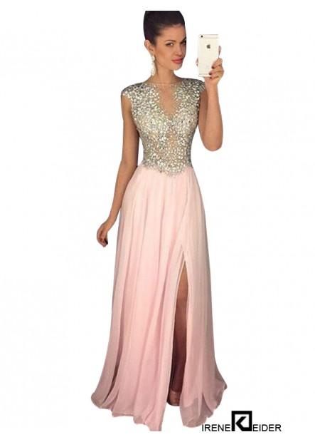 Irenekleider Pink Long Evening Dress