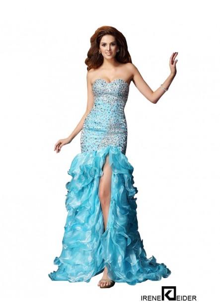Irenekleider Sexy High Low Mermaid Prom Evening Dress