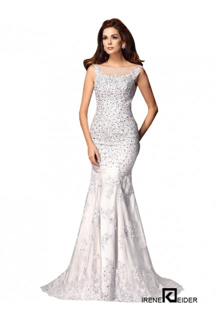 Irenekleider Sexy Full Beading Evening Mermaid Prom Evening Dress