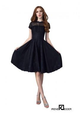 Irenekleider Sexy Black Short Prom Gown