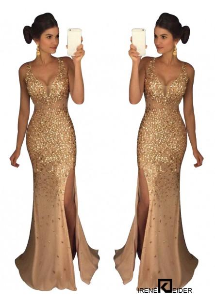 Irenekleider The Gold Long Prom Evening Dress