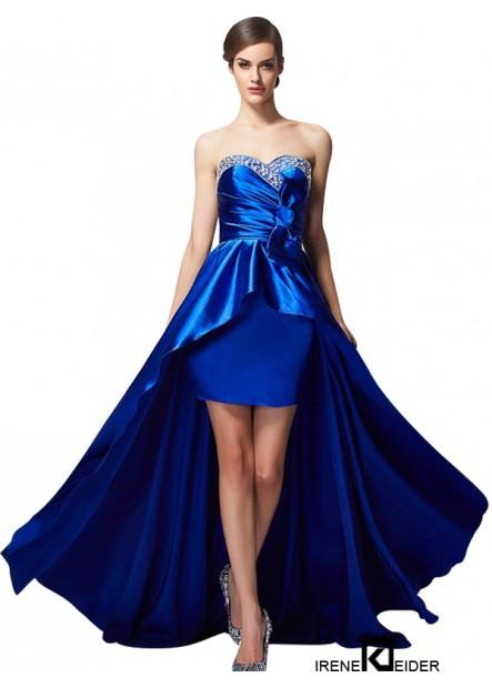Irenekleider High Low Long Prom Evening Dress
