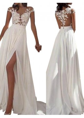 Irenekleider Sexy 2020 White Summer Beach Beach Long Wedding  / Evening Dresses