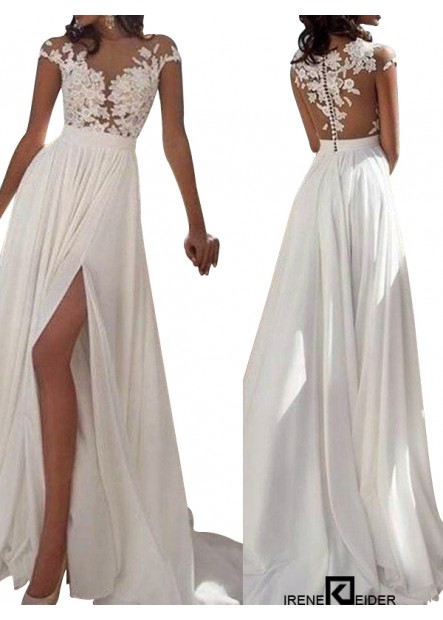 Irenekleider Sexy 2021 White Summer Beach Beach Long Wedding  / Evening Dresses