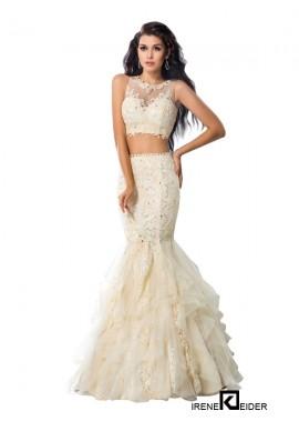 Irenekleider Sexy Two Piece Long Mermaid Prom Evening Dress