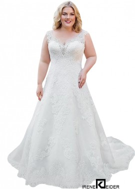 Irenekleider Lace Plus Size Wedding Dress