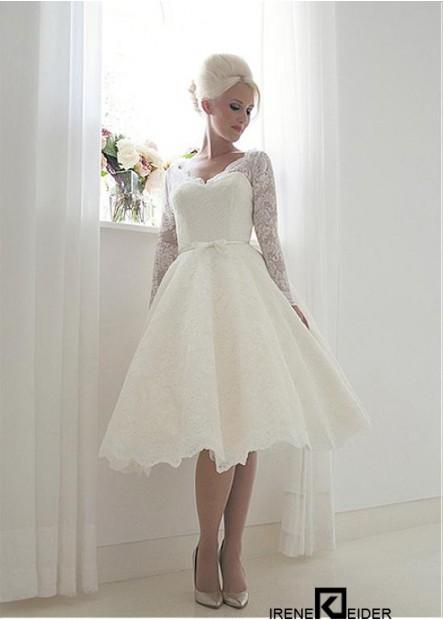 Irenekleider Short Lace Wedding Dress