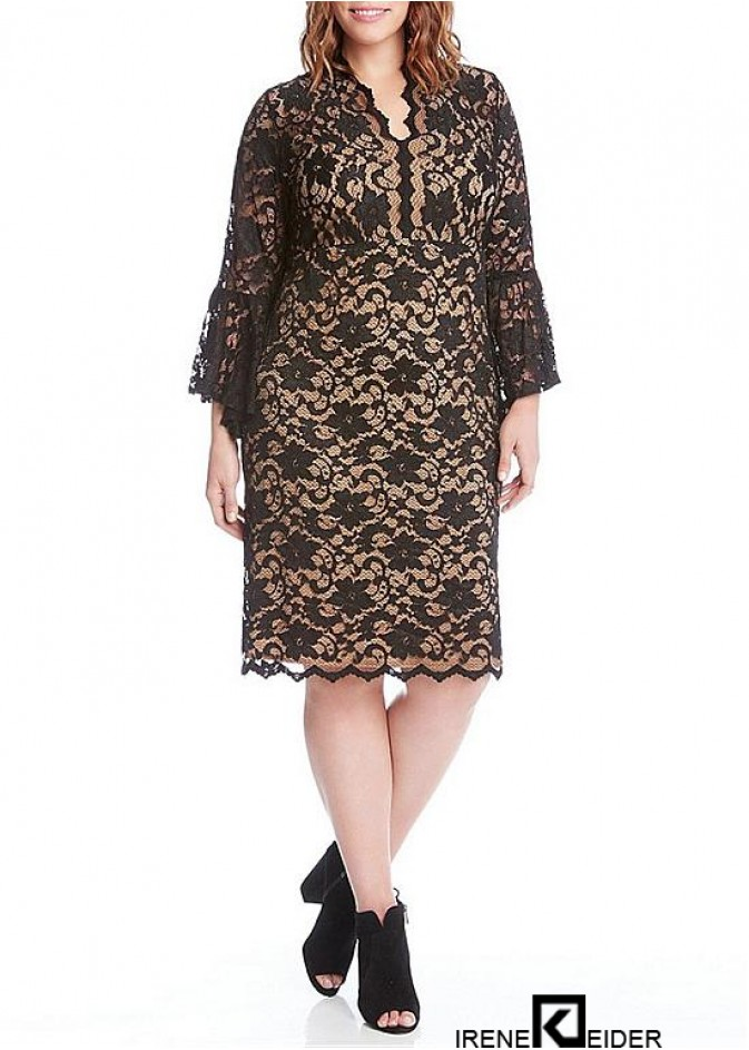 Empire-Taille mit langem V-Ausschnitt sowie Kleid für die ...