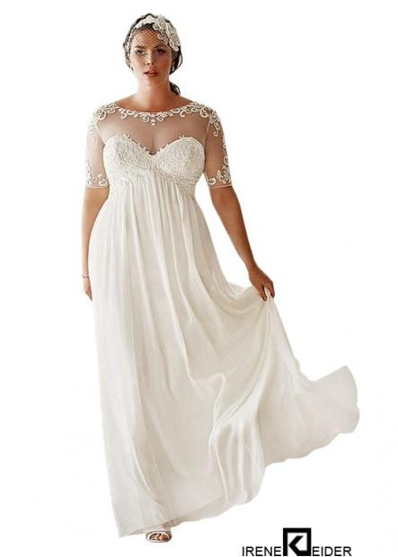 Irenekleider Simple Plus Size Wedding Dress