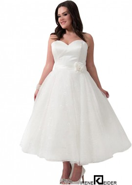 Irenekleider Short Plus Size Wedding Dress