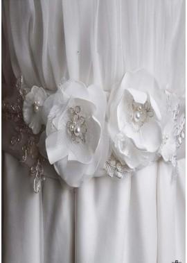 Einfache Handgemachte Blumen Braut Schärpen T901556004836