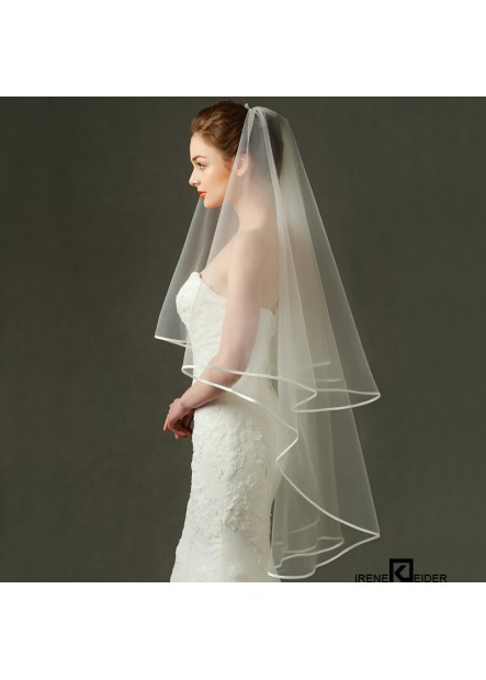 White delicate edging Wedding Veil T901554099884