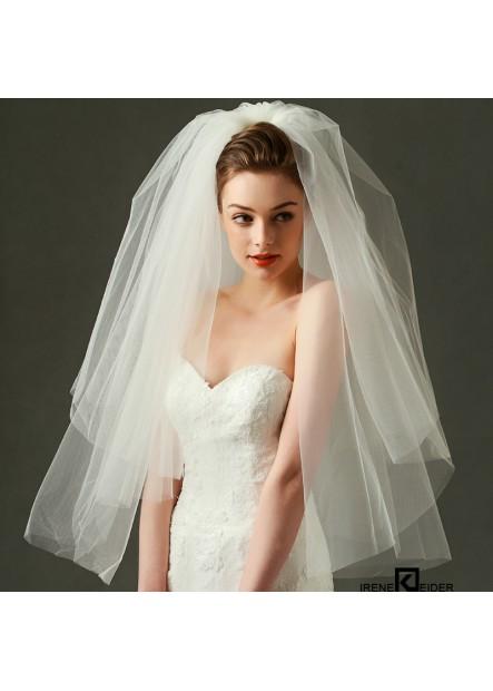 Beige metal hair comb bridal Wedding Veil T901554100671